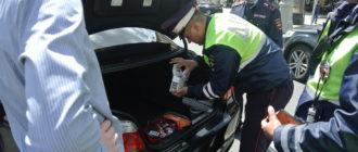 Имеет ли право инспектор проверять аптечку и огнетушитель в машине?