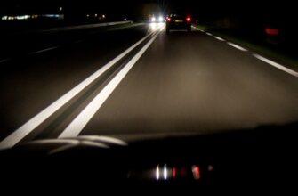 Ночная поездка на машине