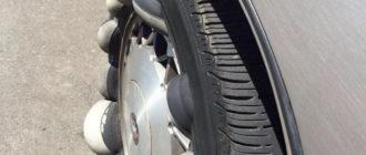 От чего появляется грыжа на колесе?