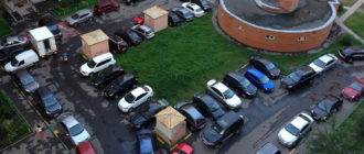 Как сосед во дворе освободил место под парковку своего автомобиля