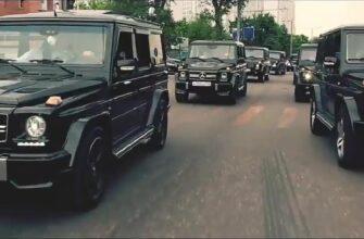 Выпускники Академии ФСБ устроили парад Гелендвагенов в Москве