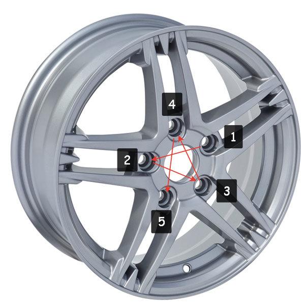 Правильная установка колес (диски под 5 болтов)