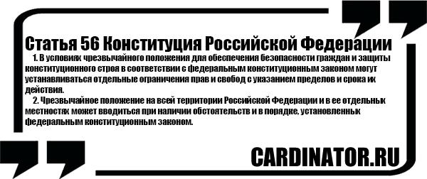 Статья 56 Конституция Российской Федерации